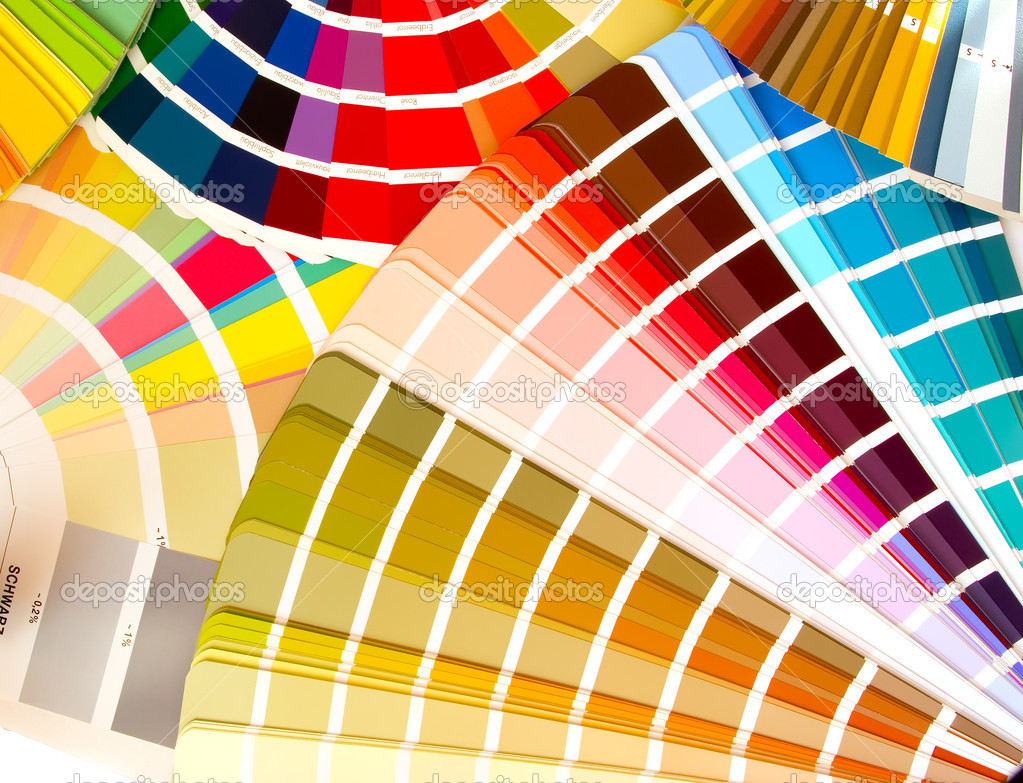 Expanded fans of color samples guids — Stock Photo #1021919