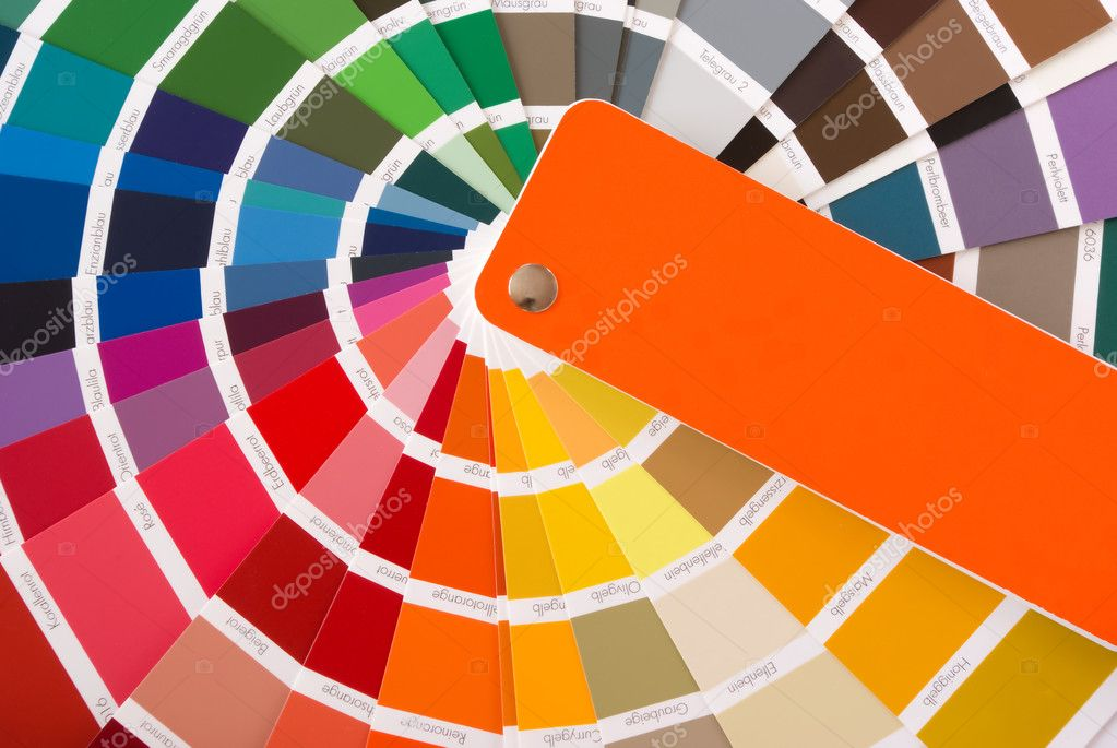Expanded fan of color samples — Stock Photo #1021981