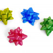 Colorful bows for decorating gifts — Stock Photo
