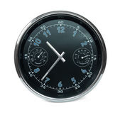 Wall clock with hydrometer and thermomet — Stock Photo