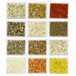 Mineral decorative plaster samples - Stock Photo
