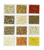Mineral decorative plaster samples — Stock Photo