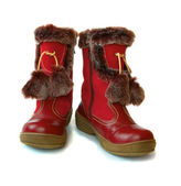 Winter childrens boots — Stock Photo
