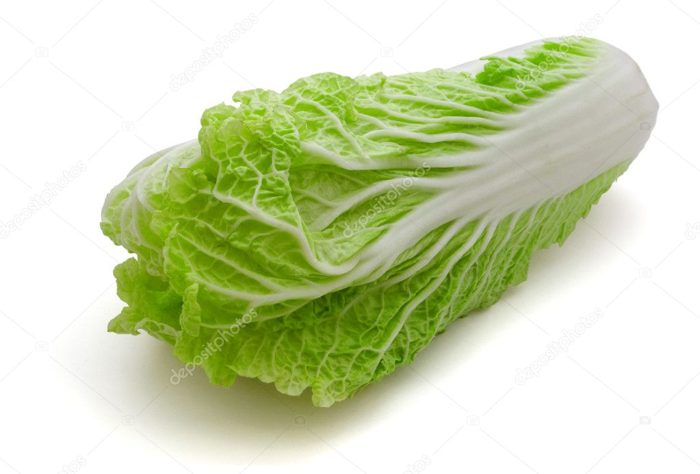 Fresh napa (chinese) cabbage isolated on white  Stock Photo #2635852