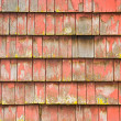 Stock Photo: Old painted shingles