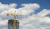 Highrise under construction — Stock Photo