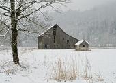 Winter Farm — Stock Photo