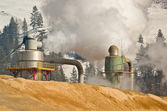 Pulp mill pollution — Stock Photo