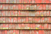 Old painted shingles — Stock Photo