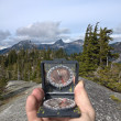 Royalty-Free Stock Photo: Hand-held compass