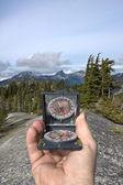 Hand-held compass — Stock Photo