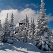 Fire lookout in winter — Stock Photo