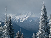 Lofty winter mountains — Stock Photo