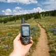 Hand-held GPS — Stock Photo