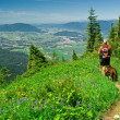A hiker and his best friend -  