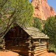 Stock Photo: Homestead cabin in Zion National Park