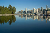 Vancouver ocean reflection — Stock Photo