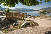 Lake Osoyoos and Pioneer Park — Stock Photo