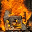 Stock Photo: Burning armchair