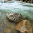 Stock Photo: River boulders