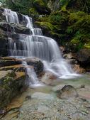 Rocky waterfall steps — Stock Photo