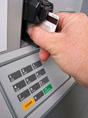 Debit card transaction — Stock Photo