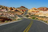 Winding Nevada Highway — Stock Photo