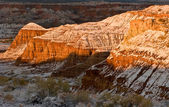 Winter Escalante bluffs — Stock Photo
