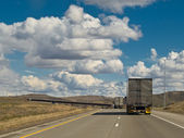 Interstate Semis — Stock Photo