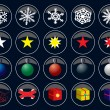 Royalty-Free Stock Vector Image: Xmas buttons new