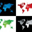 Royalty-Free Stock Vector Image: World map variation