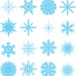 Snowflake variation — Stock Vector
