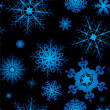 Stock Vector: Snowflake seamless square