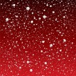 Snowflake redsky — Stockvectorbeeld