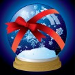 Royalty-Free Stock Vector Image: Snow globe ribbon
