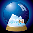 Royalty-Free Stock Vector Image: Snow globe modern