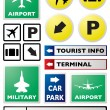 Stock Vector: Airport sign