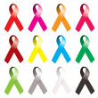 Awareness ribbon - Stock Vector