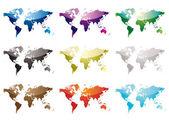 World map nine — Stock Vector