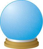 Snow globe clear — Stock Vector