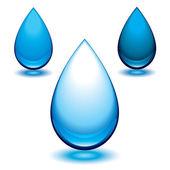 Aqua droplet — Stock Vector