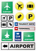 Airport sign — Stock Vector
