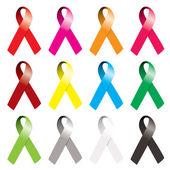 Awareness ribbon — Stock Vector