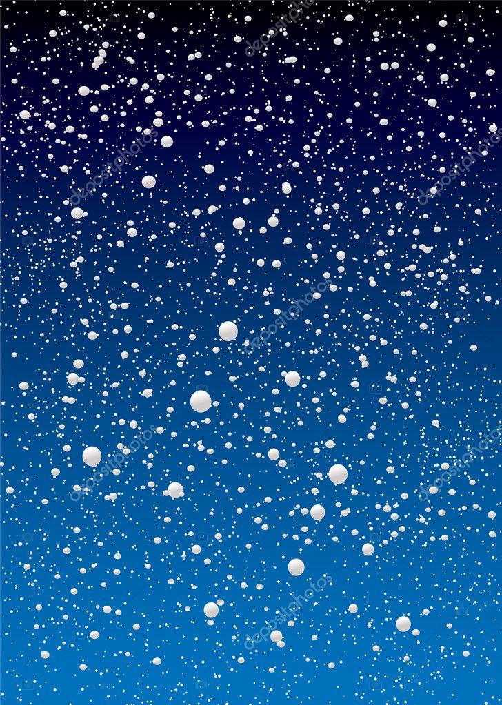 Ciel de flocon de neige image vectorielle nicemonkey 1116546 - Vrai flocon de neige ...