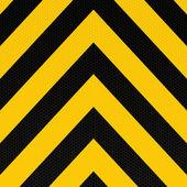 Arrow warning stripe — Stock Vector