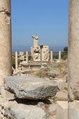 Street of an antique city Ephesus — Stock Photo