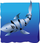 Decorative shark — Stock Vector