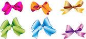 Multi-coloured bows — Stock Vector