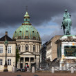 Marble Church in Copenhagen, the capital of Denmark — Stock Photo #1153126