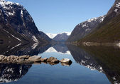 Landscape of fiord in Norway — Stock Photo